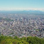 札幌市街を望む、藻岩山山頂からの眺望